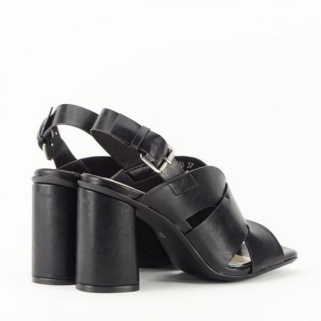 Sandale negre cu toc gros Amalia5
