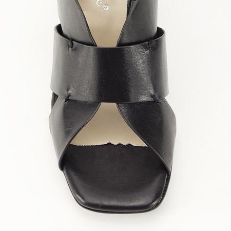 Sandale negre cu toc gros Amalia8