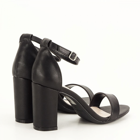 Sandale negre cu toc gros Ingrid 2 [4]