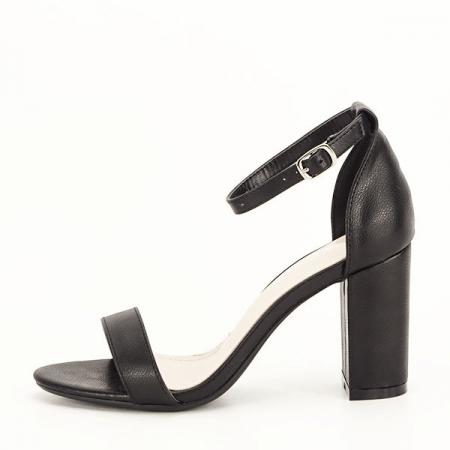 Sandale negre cu toc gros Ingrid 2 [0]