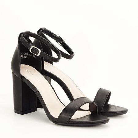 Sandale negre cu toc gros Ingrid 2 [2]
