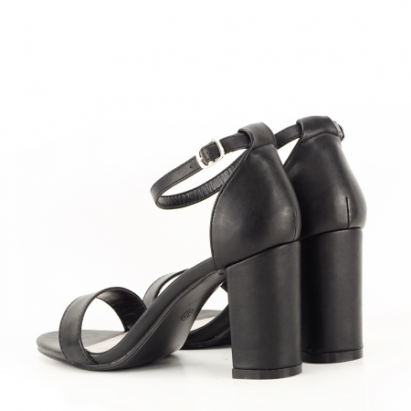 Sandale negre cu toc gros Ingrid6