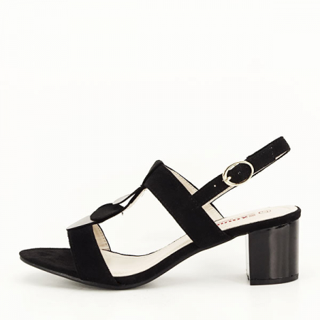 Sandale negre cu toc gros Sabrina [0]