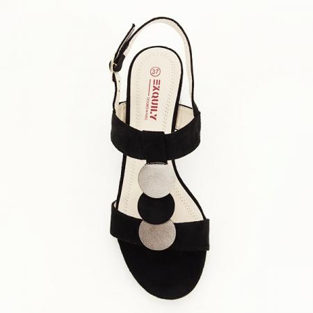 Sandale negre cu toc gros Sabrina [2]