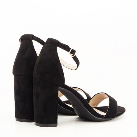 Sandale negre cu toc inalt Flavia [6]