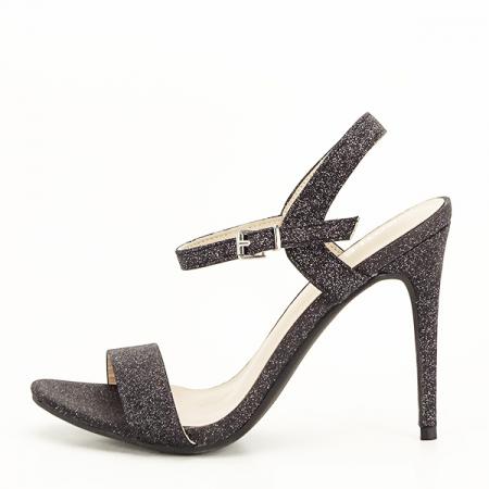 Sandale negre cu toc inalt Mia [0]
