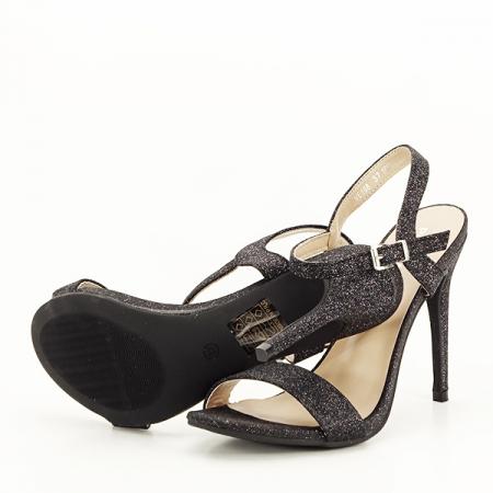 Sandale negre cu toc inalt Mia [7]