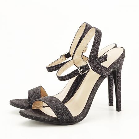 Sandale negre cu toc inalt Mia [1]