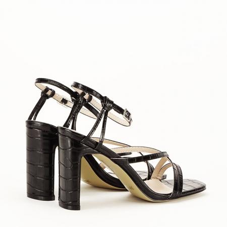 Sandale negre cu toc Jessie [4]