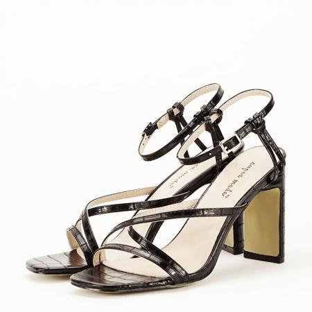 Sandale negre cu toc Jessie [1]