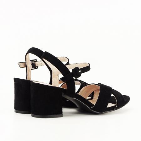 Sandale negre cu toc mic Natalia [2]