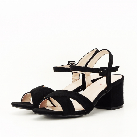 Sandale negre cu toc mic Natalia [1]