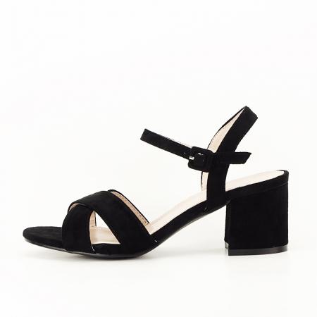 Sandale negre cu toc mic Natalia [0]
