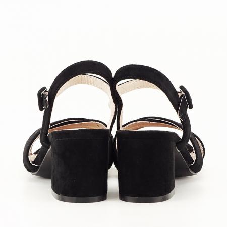 Sandale negre cu toc mic Natalia [6]