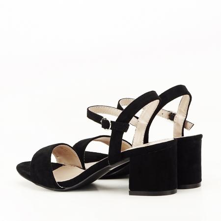 Sandale negre cu toc mic Vanesa [7]