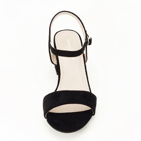 Sandale negre cu toc mic Vanesa [3]