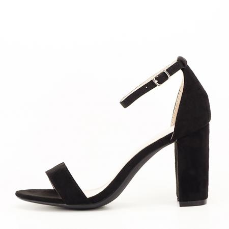 Sandale negre cu toc inalt Flavia [1]