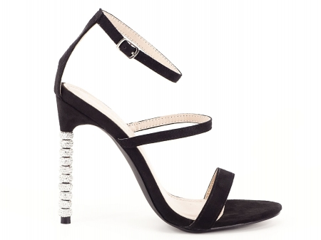 Sandale negre elegante cu toc inalt Delia [0]