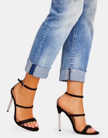 Sandale negre elegante cu toc inalt Delia [6]