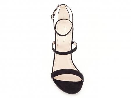 Sandale negre elegante cu toc inalt Delia [5]