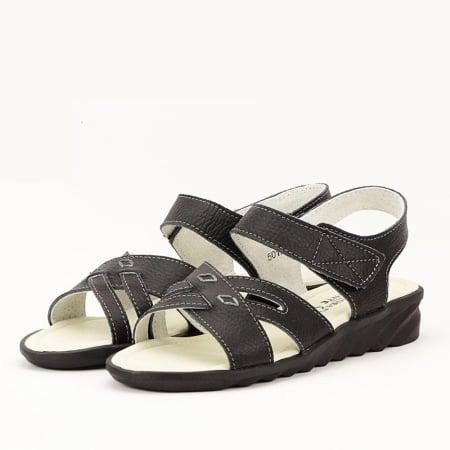 Sandale negre din piele naturala Alexandra [0]