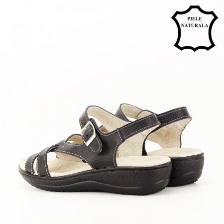 Sandale negre din piele naturala Callia [6]