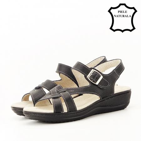 Sandale negre din piele naturala Callia [1]