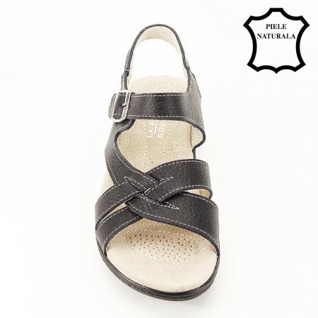 Sandale negre din piele naturala Callia [3]