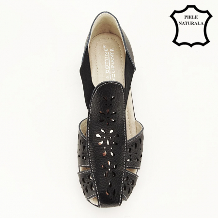 Sandale negre din piele naturala Ozana [4]