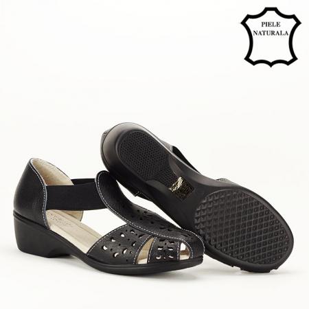 Sandale negre din piele naturala Ozana [3]