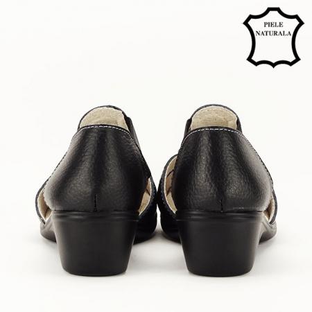 Sandale negre din piele naturala Ozana [6]