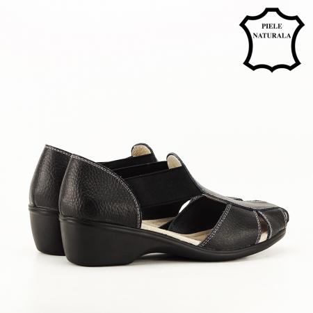 Sandale negre din piele naturala Calypso3
