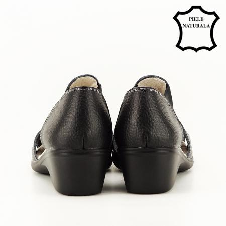 Sandale negre din piele naturala Calypso4