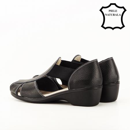 Sandale negre din piele naturala Calypso5