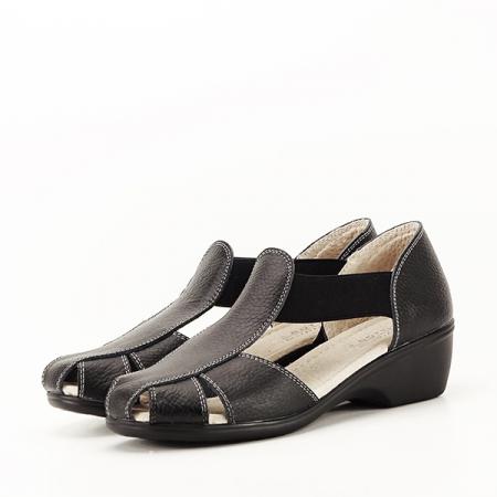 Sandale negre din piele naturala Calypso0