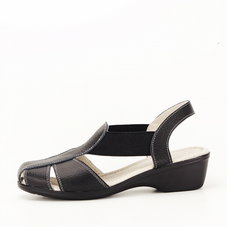 Sandale negre din piele naturala Codruta [0]