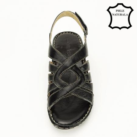 Sandale negre din piele naturala Eliza [2]