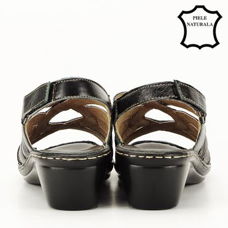 Sandale negre din piele naturala Eliza [3]