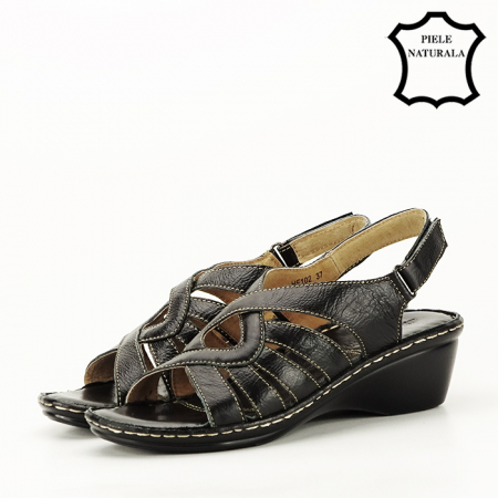 Sandale negre din piele naturala Eliza [1]