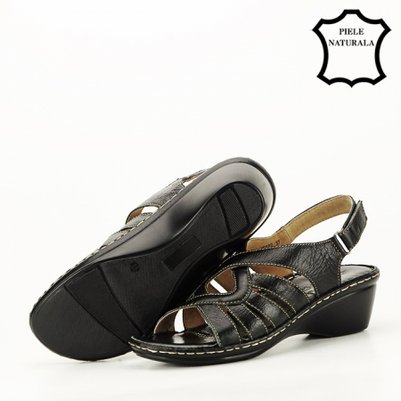 Sandale negre din piele naturala Eliza [5]