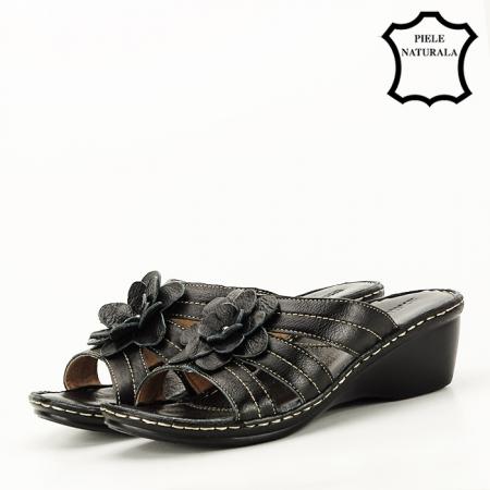 Sandale negre din piele naturala Felicia [1]