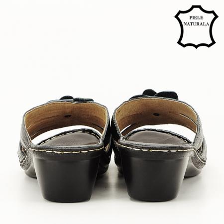 Sandale negre din piele naturala Felicia [3]