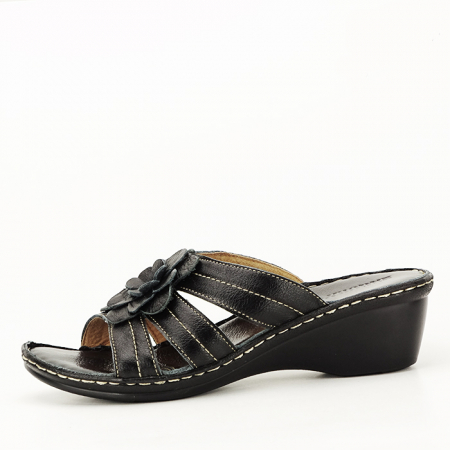 Sandale negre din piele naturala Felicia [0]