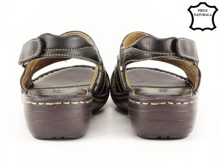 Sandale negre din piele naturala Mona6