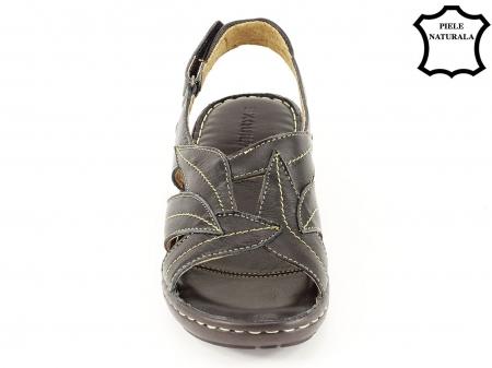 Sandale negre din piele naturala Mona5