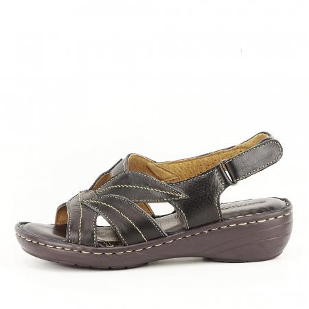 Sandale negre din piele naturala Mona0