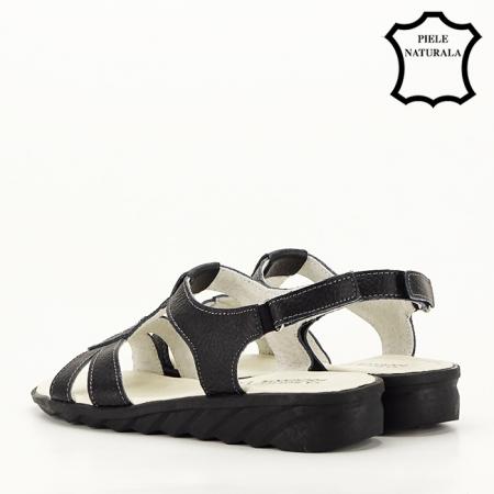 Sandale negre din piele naturala Silvia [7]