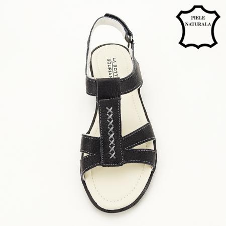 Sandale negre din piele naturala Silvia [3]