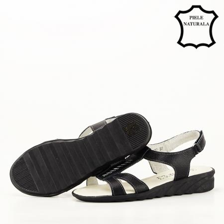 Sandale negre din piele naturala Silvia [5]