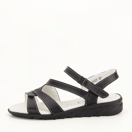 Sandale negre din piele naturala Suzana [0]